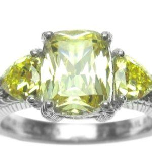 Judith Ripka Diamonique Canary Ring